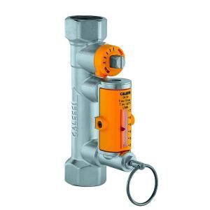 Válvula de balanceamento com caudalímetro para instalações solares Caleffi 258