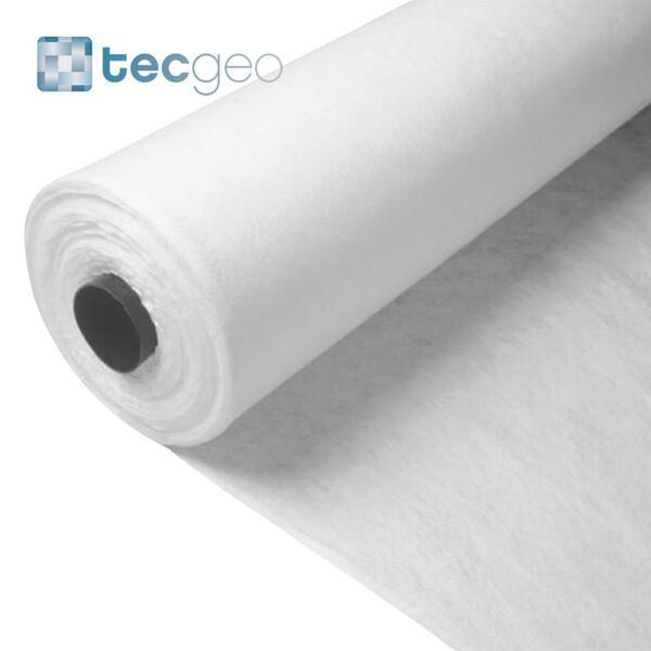 Manta Geotêxtil em Poliéster TECgeo ST - 120 grs - 100 m x 2,2 m