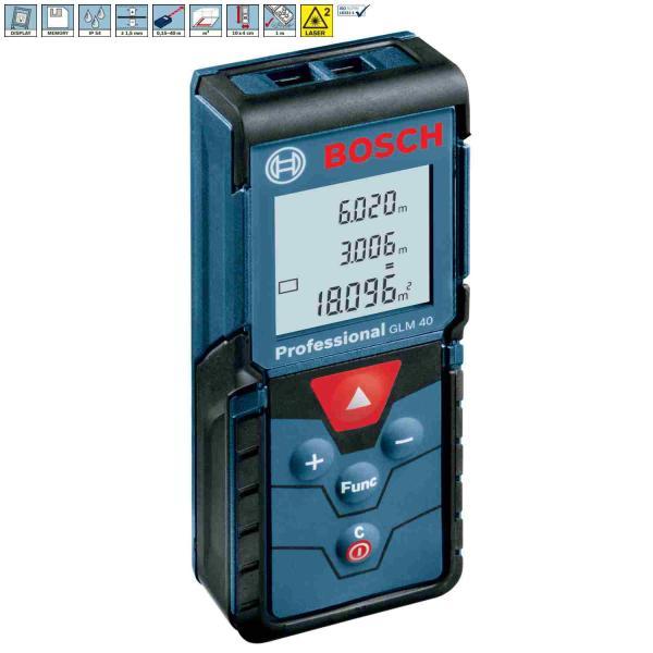 Medidor de dist ncia laser bosch glm 40 professional da - Medidor laser bosch ...