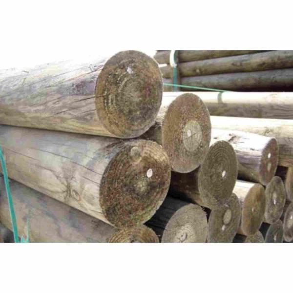 Postes de madeira tratada em pinho Pirinéus - 75 mm x 75 mm x 3 m (196 unidades)