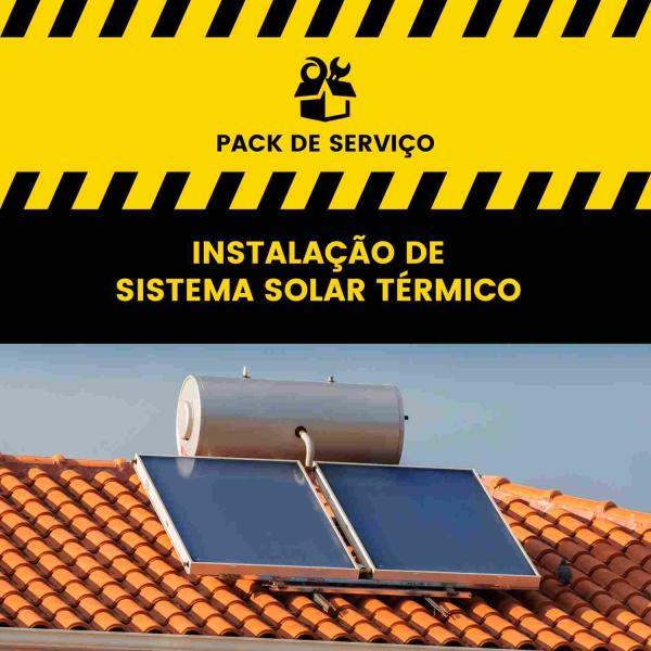 Serviço de Instalação Sistema Solar Térmico (circulação forçada) - até 300 litros