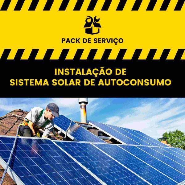 Serviço de Instalação de Sistema Solar de Autoconsumo - 1 painel