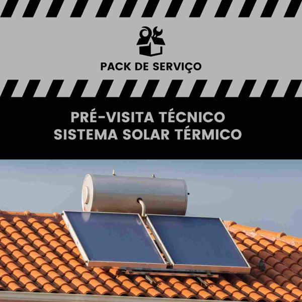 Serviço de Pré-visita de Técnico – Sistema Solar Térmico - Pré-visita