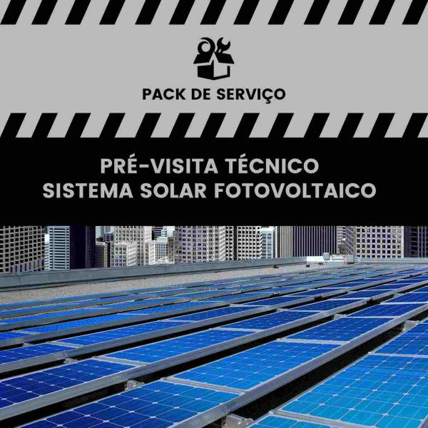 Pré-visita de técnico – Sistema Solar Fotovoltaico - Pré-visita